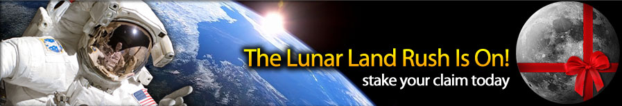 buy land on the moon to join our Lunar Land Registry